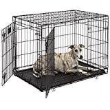 Life Stages LS-1636DD Double Door 36 Inch Folding Crate with Divider for Intermediate Dogs (41 - 70Lbs)