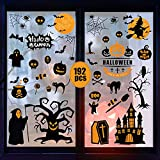 BigOtters 12 Sheets Halloween Window Clings, 192 PCS Halloween Window Stickers Halloween Window Clings Decals for Halloween Window Glass Decorations Home Holiday Decor
