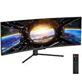 Deco Gear 49' Curved Ultrawide E-LED Gaming Monitor, 32:9 Aspect Ratio, Immersive 3840x1080 Resolution, 144Hz Refresh Rate, 3000:1 Contrast Ratio (DGVIEW490)