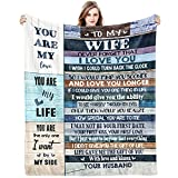 Gifts for Wife Gift Form Husband Blanket for Christmas Wedding Anniversary Birthday Mothers Day Valentines Day Romantic for Wife Ideas Healing Thoughts Ultra Soft Blankets 60x50inch
