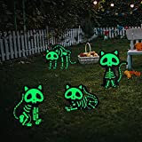 Halloween Yard Sign, 4PCS Reflective Black Cat Halloween Decoration Outdoor, Scary Family Home Front Yard Sign, Plastic Decoration for Halloween Party