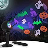 Halloween Lights Ghost Projector Light Holiday Decoration Light Show for Outdoor Waterproof Spotlight Landscape Lamp for House Yard Party