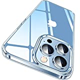 CASEKOO Crystal Clear Designed for iPhone 13 Pro Case, [Not Yellowing] [Military Grade Drop Protection] Shockproof Protective Phone Case 6.1 inch 2021 (Clear)