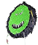 adult pinata Funny Virus Monster Pinata halloween large capacity birthday theme party pinata,boys and girls favorite party supplies,wonderful blessing theme to break it makes us healthy growth Can also be used as decoration 17in×17in×4in