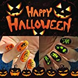 iMethod Halloween Nail Stickers - 2021 New 1500+ Designs Halloween Nail Decals 12 Sheets, Easy to Apply & Remove, Perfect for Women, Girls & Kids DIY Halloween Nail Art at Home, Collection A