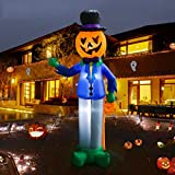 LOYO Halloween Inflatable Clown with Pumpkin 7ft, Inflatable Halloween Blow up Decorations for Holiday Indoor Outdoor Yard Garden Lawn