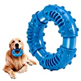 Feeko Dog Chew Toys for Aggressive Chewers Large Breed, Non-Toxic Natural Rubber Indestructible Dog Toys, Tough Durable Puppy Chew Toy for Medium Large Dogs - Fun to Chew, Chase and Fetch(Blue)