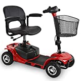 ENGWE Mobility Scooters for Seniors, 4 Wheels Solid All Terrain Heavy Duty, Powered Electric Wheelchair Device for Adults Travel 10 Miles Range Mobile, Adjustable Joystick with Basket & Folding Chair