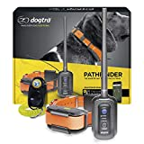 Dogtra Pathfinder GPS Electronic Dog Training Collar for Large Dogs - 9-Mile Range, 100 Levels Nick and Constant Stimulation, Tone, Waterproof, Expandable to 21 Dogs, w/PetsTEK Clicker