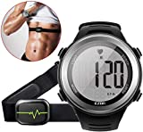 EZON Heart Rate Monitor Sports Watch with HRM Chest Strap,Waterproof,Stopwatch,Hourly Chime T007