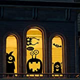 CCINEE 10PCS Giant Halloween Window Clings Novelty Cute Wiggly Monster Window Decal Stickers for Halloween Decoration Supply
