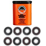 Bronson Speed Ceramic Skateboard Bearings, Cleaning Unit, Spacers, Washers, Extra Shields