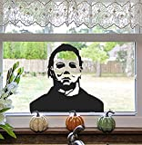 Halloween Window Clings Decorations Spooky Silhouette Removable PVC Double-Side Window Sticker Haunted House Ghost Large Scary Decals for Halloween Party Supplies Home Office Window Glass Mirror
