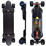 Teamgee H20T 39' Electric Skateboard with Rubber Wheels, 1200W Dual Motor, 7500mAh Battery, 26PMH Top Speed, 18 Miles Range, 4 Speed Adjustment, Longboards Skateboard Designed for Adults