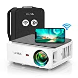 YABER V6 WiFi Bluetooth Projector 9000L Upgrade Full HD Native 1920×1080P Projector, 4P/4D Keystone Support 4k&Zoom, Portable Wireless LCD LED Home&Outdoor Video Projector for iOS/Android/PS4/PPT