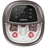 Foot Spa Bath Massager,RENPHO Motorized Foot Spa with Heat and Massage and Jets,Bubble Jets,Shiatsu Foot Spa Massager Corn Rollers,Relieve Feet Muscle Pain