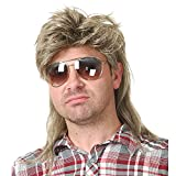 Kaneles Blonde Mullet Wigs for Men 70s 80s Costumes Mens Fancy Party Accessory Cosplay Hair Wig