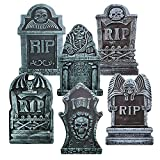 """Halloween Décor 17"""" RIP Graveyard Tombstones (6 Pack), Yard Signs for Halloween Props Yard Stakes Halloween Decorations"""