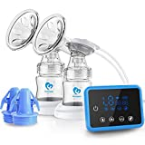 Bellababy Double Electric Breast Feeding Pumps Pain Free Strong Suction Power Touch Panel High Definition Display,Come with 24mm Flanges