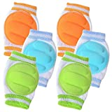 3 Pairs Baby Knee Pads for Crawling - Adjustable Breathable Waterproof Safety Protector, Anti-Slip Elastic Knee Elbow Pads Cushion for Babies, Toddlers, Infants, Boys, Girls, Kids