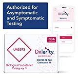 DxTerity COVID-19 Saliva at-Home Collection Kit with Prepaid Express Return Shipping and Laboratory PCR Testing (10-Pack)