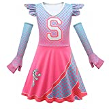 Zombies 2 Costumes for Girls Halloween Cheerleader Outfit Toddler Dress Up Costume Long Sleeve