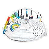 Sassy Stages STEM Developmental Play Gym, Sensory Tummy Time Activity Play Mat w/Built-in Instructions, Ultra Plush & Machine Washable Playmat for Babies & Toddlers