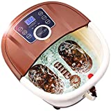 Foot Spa Bath Massager with Heat,16 Pedicure Spa Motorized Shiatsu Roller Massage Feet, Frequency Conversion, O2 Bubbles, Adjustable Time & Temperature,LED Display