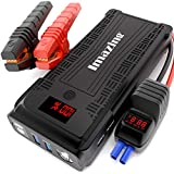 Imazing Portable Car Jump Starter - 2500A Peak 20000mAH (Up to 8L Gas or 8L Diesel Engine) 12V Auto Battery Booster Portable Power Pack with LCD Display Jumper Cables, QC 3.0 and LED Light