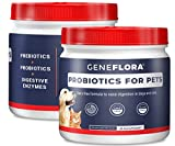 Digestive Enzymes and Probiotic for Pets (Dogs, Cats, Rabbits and More, 125 mg, 120 servings) by Geneflora for Pets Pack of 2