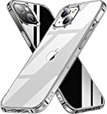 AEDILYS Shockproof for iPhone 13 Case,[ Non-Yellowing][15FT Military Grade Drop Protection] [Scratch-Resistant], Slim Non-Slip iPhone 13 Phone Case, 6.1''- Clear