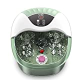 Foot Spa, Foot Bath Massager with Heat, Bubbles, Pumice Stone, Medicine Box, Digital Temperature Control, Red Light, 14 Ergonomic Massage Rollers and Acupressure Massage Points, Fatigue Relief