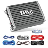 BOSS Audio Systems AR1500MK Car Amplifier and 8 Gauge Wiring Kit - 1500 Watts Max Power, 2/4 Ohm Stable, Class AB, Monoblock, Mosfet Power Supply, Remote Subwoofer Control