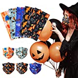 Disposable Face Mask Halloween - 50Pcs Printed Disposable Face Mask, 3 Ply Multicolored, Adult Face Masks for Women and Men