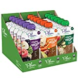 Plum Organics Mighty Veggie, Organic Toddler Food, Variety Pack, 4 ounce pouch, Pack of 18