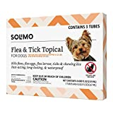 Amazon Brand - Solimo for Dogs Small Dog (4-22 pounds) Flea and Tick Treatment, 3 Doses
