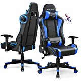 GTRACING Gaming Chair with Speakers Bluetooth Music Video Game Chair Audio Ergonomic Design Heavy Duty Office Computer Desk Chair Gt890M,Blue (Blue)