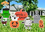 FUNNISM 6PCS Halloween Decorations Outdoor, Large Corrugate Halloween Yard Signs with Stake, Halloween Props for Trick or Treat Party Decorations, Halloween Lawn Yard Decorations, Indoor/Outdoor Décor