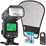 Altura Photo Camera Flash KIT W/LCD Display for DSLR & Mirrorless Cameras, External Flash Featuring a Standard Hot Flash Shoe, Universal Camera Flash for Canon, Sony, Nikon, and Other Cameras