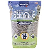 Vitakraft Fresh World Ultra Strength Paper Bedding & Litter for Small Animals and Birds, 975 Cubic inches (16 L), Gray, 34753