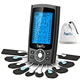 Belifu Dual Channel TENS EMS Unit 24 Modes Muscle Stimulator for Pain Relief Therapy, Electronic Pulse Massager Muscle Massager with 10 Pads, Dust-Proof Drawstring Storage Bag,Fastening Cable Ties…