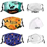 GHEOR Halloween Face Mask Balaclavas Adjustable Comfortable Washable Reusable Breathable for Adult Men Women with 10 Filters