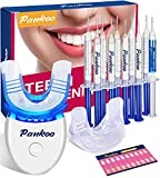 Teeth Whitening Kit With LED Light For Sensitive Teeth,Teeth Whitener With 2xDouble-Sided Silicone Mouth Tray,10xCarbamide Peroxide Teeth Whitening Gel,Help Remove Teeth Stain From Coffee And Nicotine