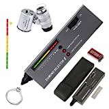 HMKIS Diamond Tester Pen, High Accuracy Jewelry Diamond Tester+ 60X Mini LED Magnifying, Professional Diamond Selector for Novice and Expert, Thermal Conductivity Meter