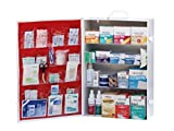 Medique 4-Shelf First Aid Kit, Side-Open First Aid Cabinet w/Alcohol Wipes Large