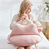 WYXunPlanet Breastfeeding Pillows for Babies,Feeding Pillow, Breastfeeding Nursing Pillows, Baby Nursing Pillows and backrests, Can Change The Baby's Feeding Position(Pink)