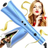 Automatic Curling Iron, Auto Hair Curler, 1' Curling Iron Large Slot with Up to 425℉ & 3 Timer, Dual Voltage Hair Curling Wand with Auto Off Function for Styling