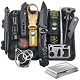 Gifts for Men Dad Husband, Survival Gear and Equipment 12 in 1, Survival Kit, Fishing Hunting Christmas Birthday Gift Ideas for Him Teen Boy Boyfriend Cool Gadgets Stuff, Emergency Camping Accessories