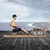 Mr. Rudolf Wooden Rowing Machine Water,Oak Rower Machines for Home Use with Bluetooth Monitor,Gyms Training Sports Exercise Equipment Fitness Indoor(Included an Electric Pump and A Dust Cover)