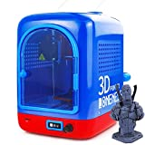 LONENESSL 3D Printer for Kids & Beginners with Free Testing Filament, Adjustable Speed,Free-Slice,Resume Printing,Toy for Boys & Girls Ages 6+, Printing Size 80x80x80mm